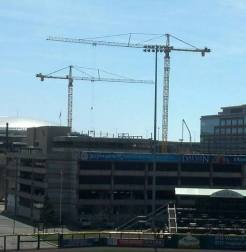 Cranes fill the skies in downtown Buffalo